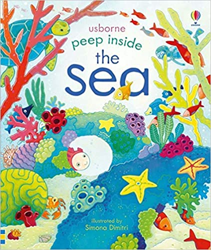 Book- Usborne Peep Inside The Sea Illustrated by Simona Dimitri