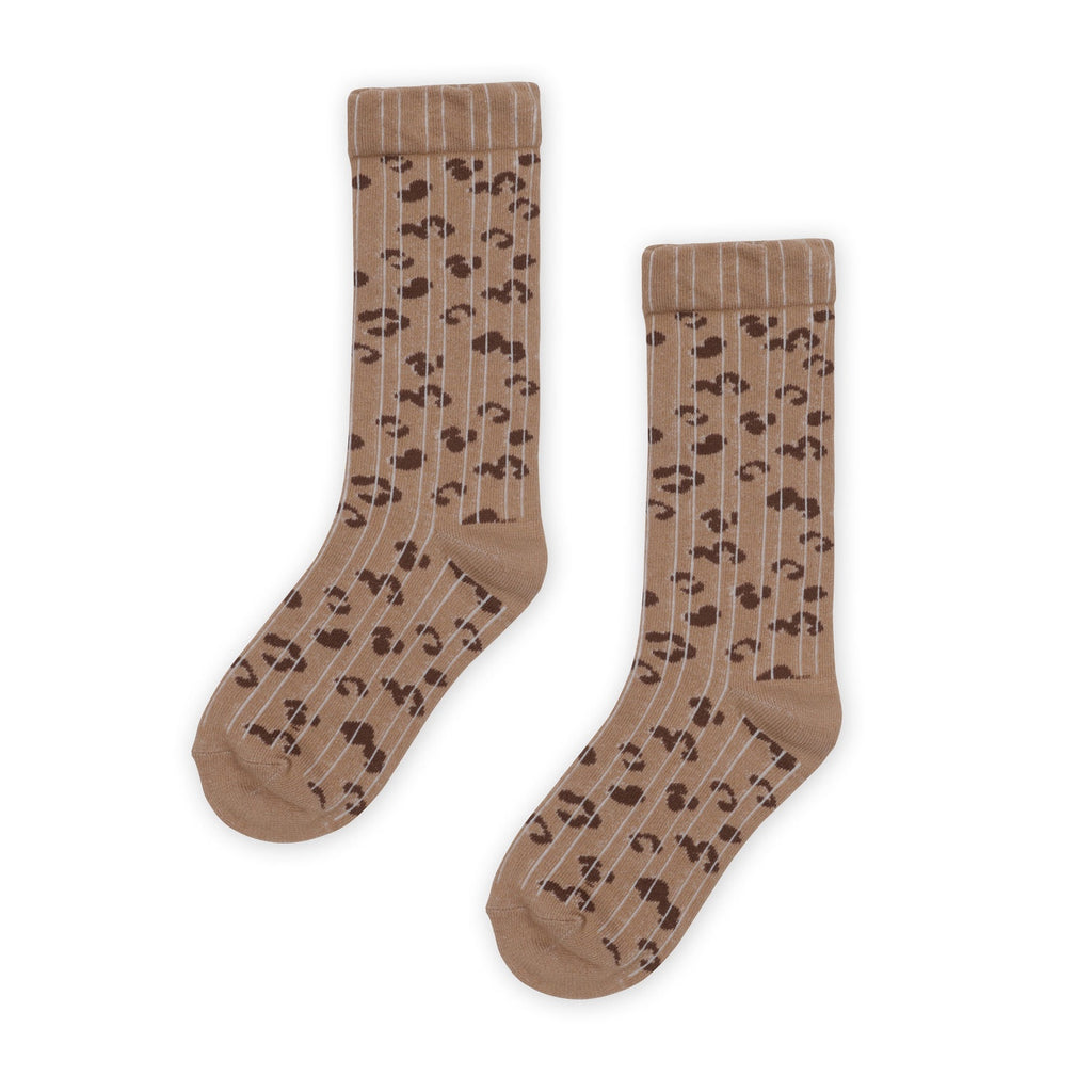 Kapow Kids - Leo Ribbed Knee High Socks - Chocolate Brown