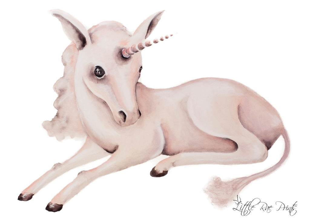 Little Rae Prints - Baby Unicorn A2