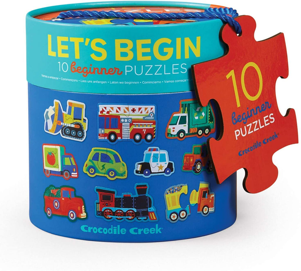 Crocodile Creek - Lets Begin Puzzle - Vehicles
