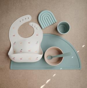 Mushie - Silicone Place Mat - Cambridge Blue