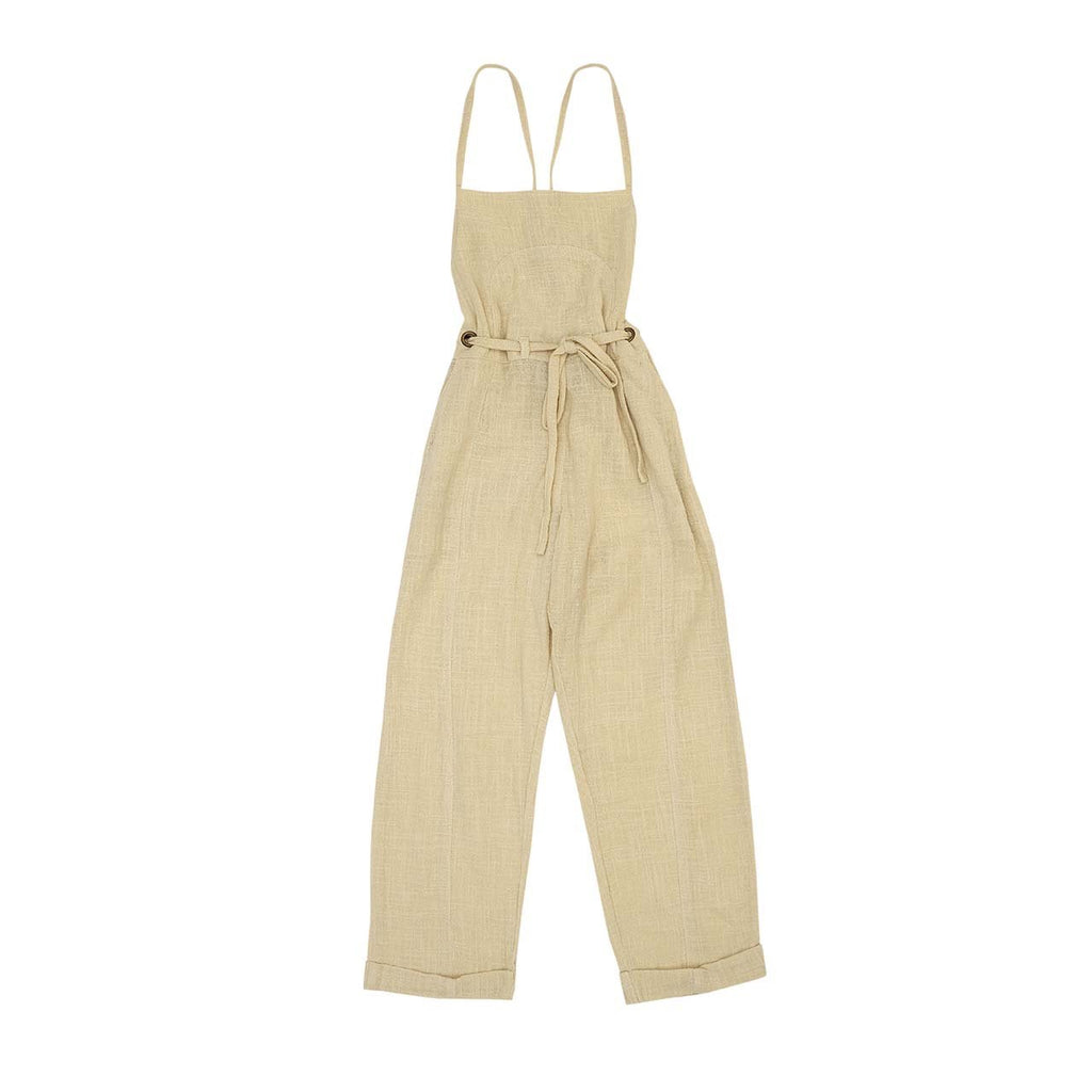 Bella and Lace - Sally Overalls - Almond