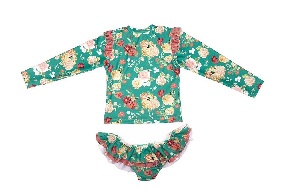 Olga Valentine - Antique Rose L/S Two Piece