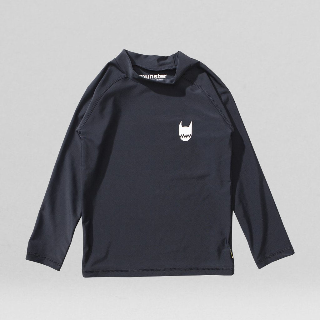 Munster - Logo L/S Black Rashie Top