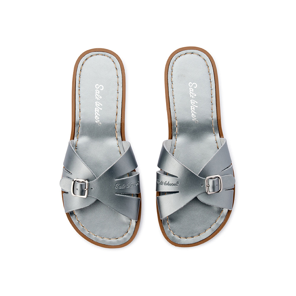 Salt Water Sandals WOMENS - Classic Slide - Pewter