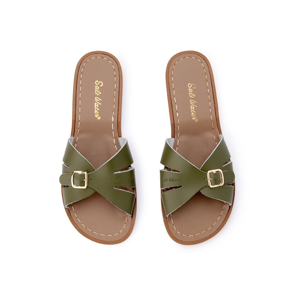 Salt Water Sandals WOMENS - Classic Slide - Olive