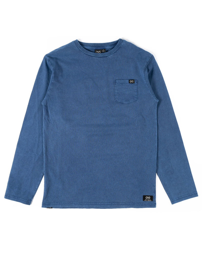 Alphabet Soup - Long Sleeve - Go to Pocket ( Indigo)