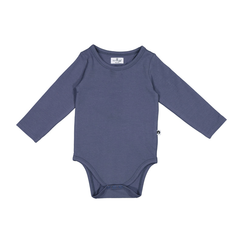 Burrow & Be - Essentials Long Sleeve Onesie - Ink