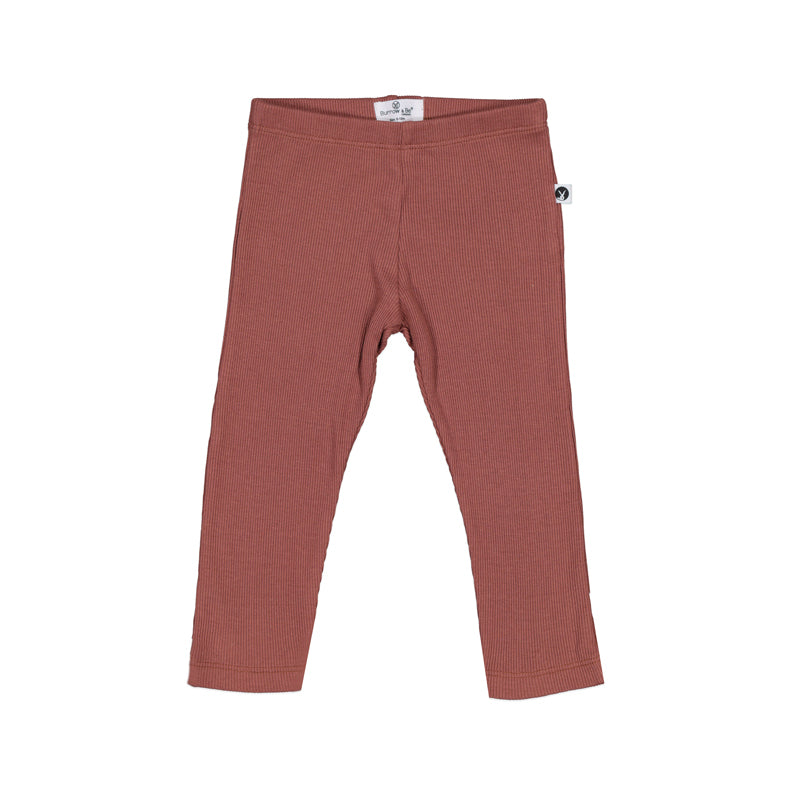 Burrow & Be - Rib Essential Legging  - Clay