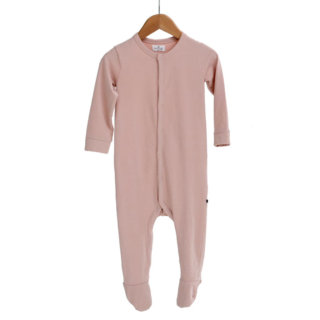 Burrow & Be - Essentials Sleep Suit - Dusty Rose