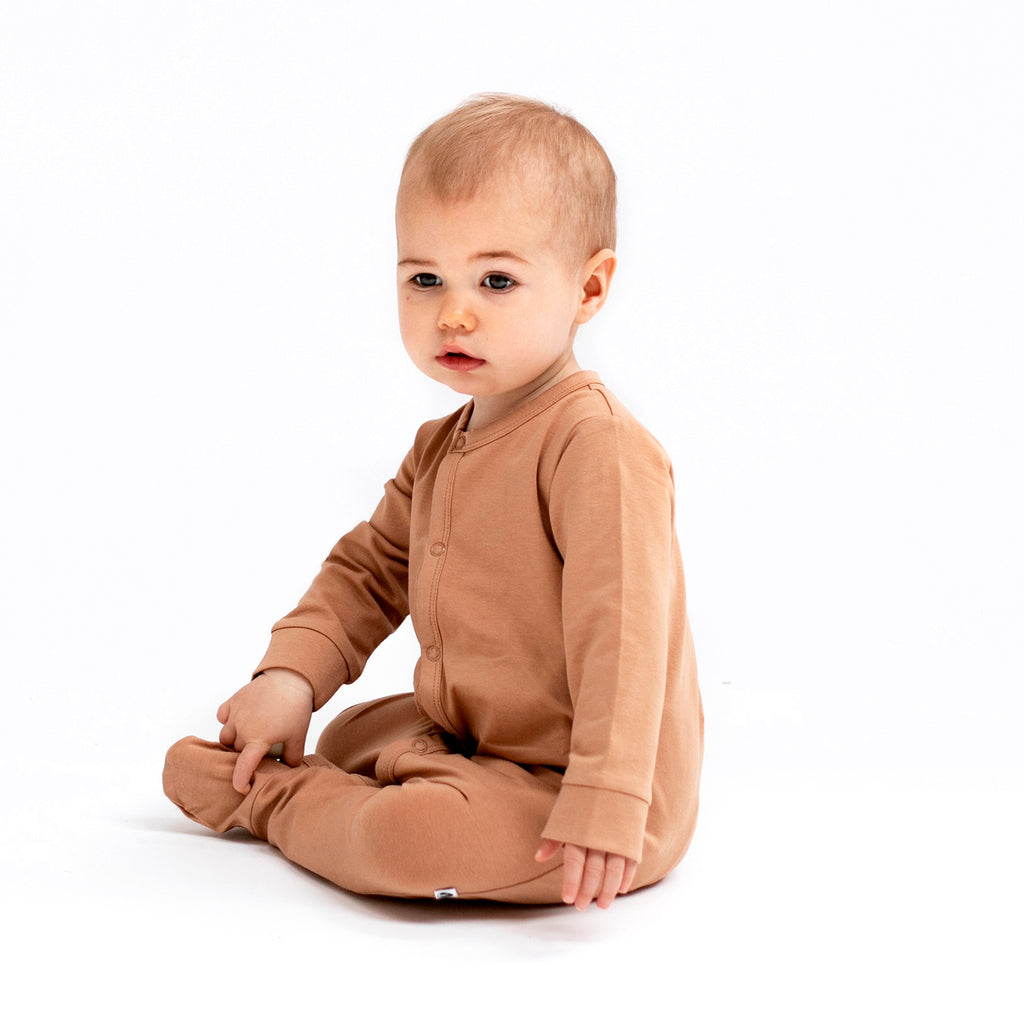 Burrow & Be - Essentials Sleep Suit - Tawny Brown