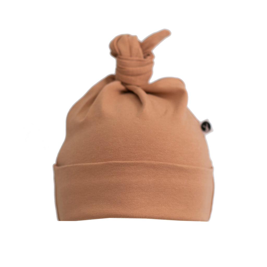 Burrow & Be - Top Knot Hat - Tawny Brown