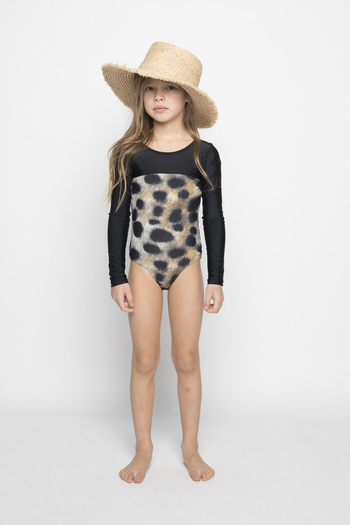Missie Munster - Giselle Long Sleeve Tie Back Swimsuit
