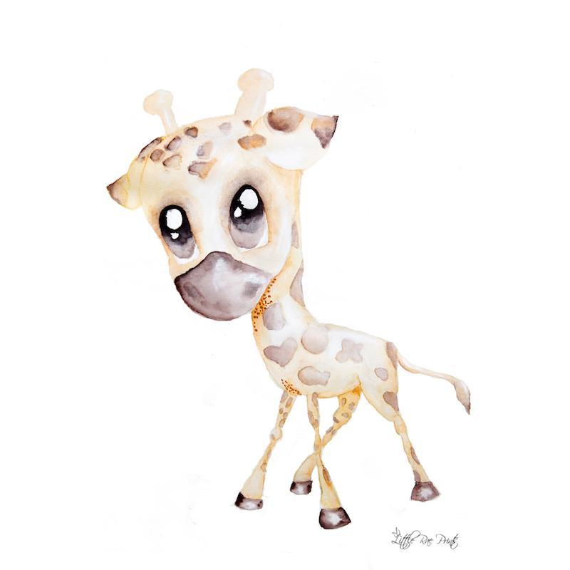Little Rae Prints - George the Giraffe A2