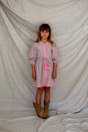 Bella and Lace - Ann Dress - Pink Cloud