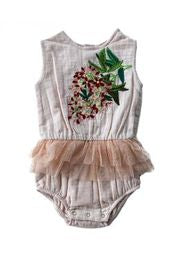 Bella and Lace - Snowflake Onesie - Sugarplum