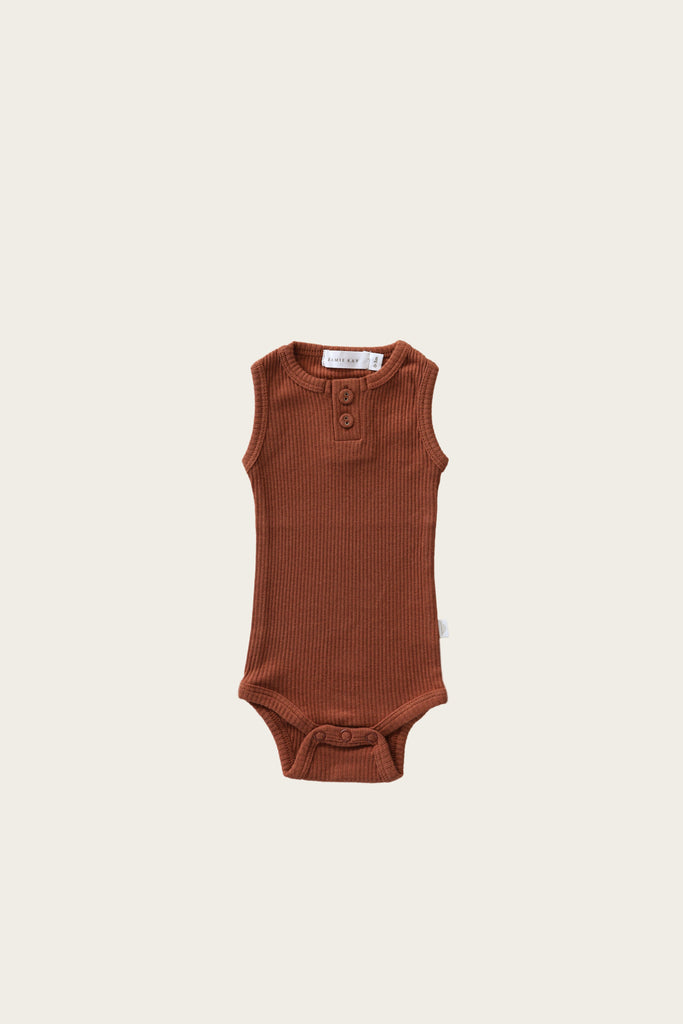 Jamie Kay - Essential Singlet Bodysuit - Copper