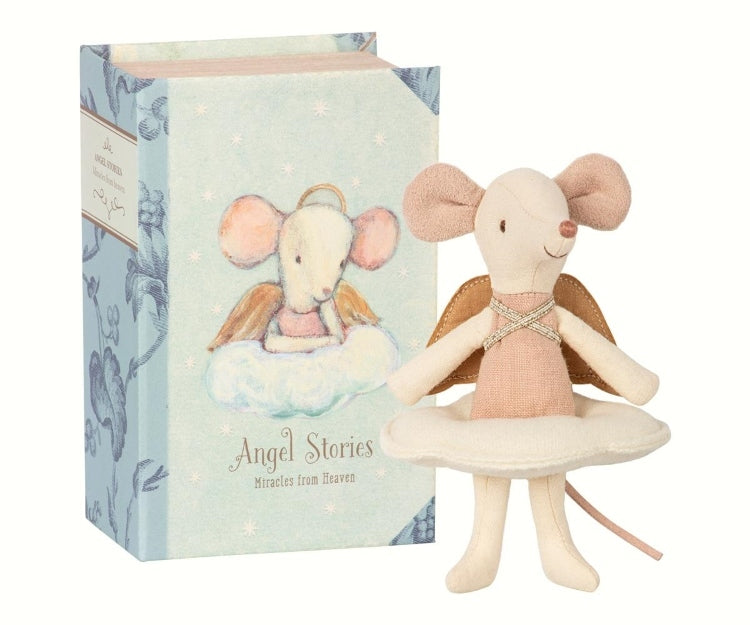 Maileg - Angel Mouse in Book