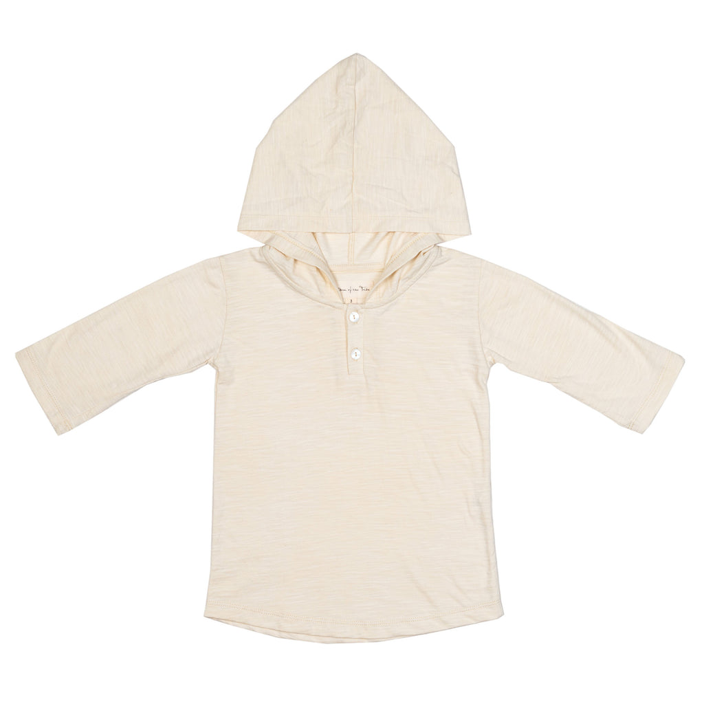 Children of the Tribe - Oatmeal Hooded 3/4 Sleeve Tee