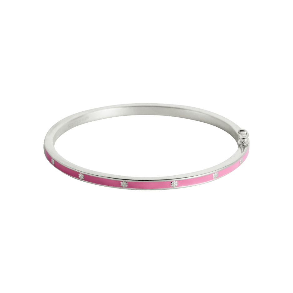 Little Kirstin Ash - Pink Flower Enamel Bangle