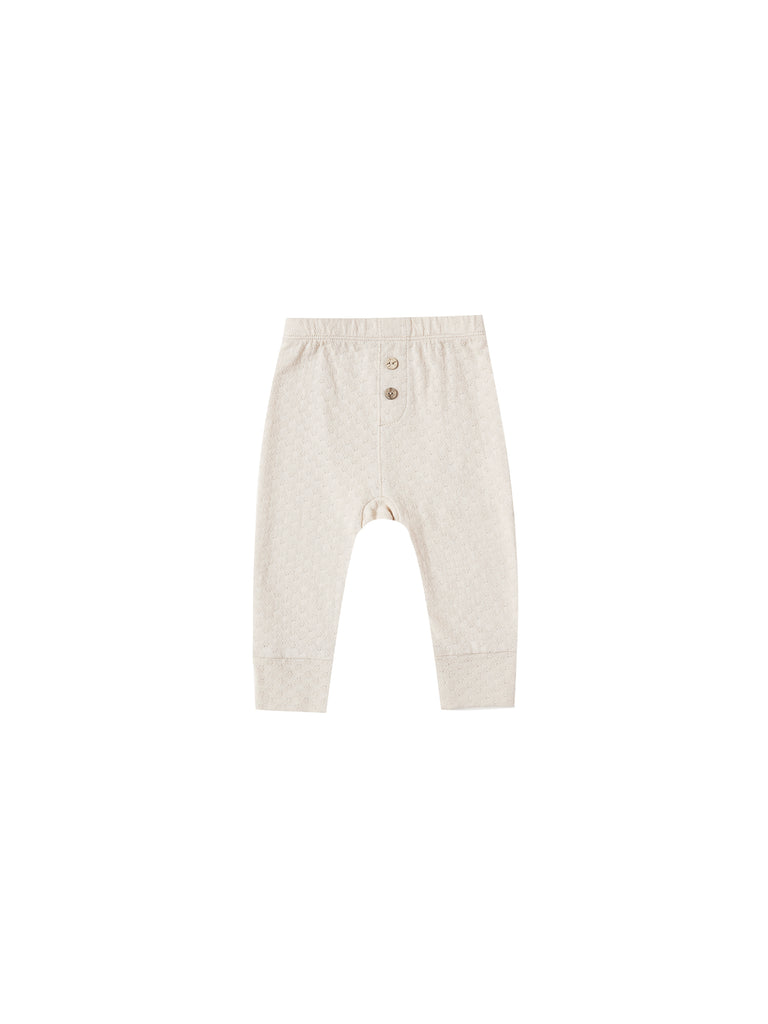 Quincy Mae - Pointelle Pyjama Pant - Pebble