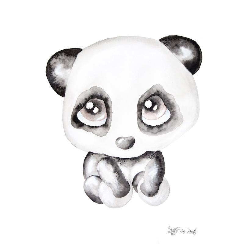 Little Rae Prints - Poppy the Panda A2