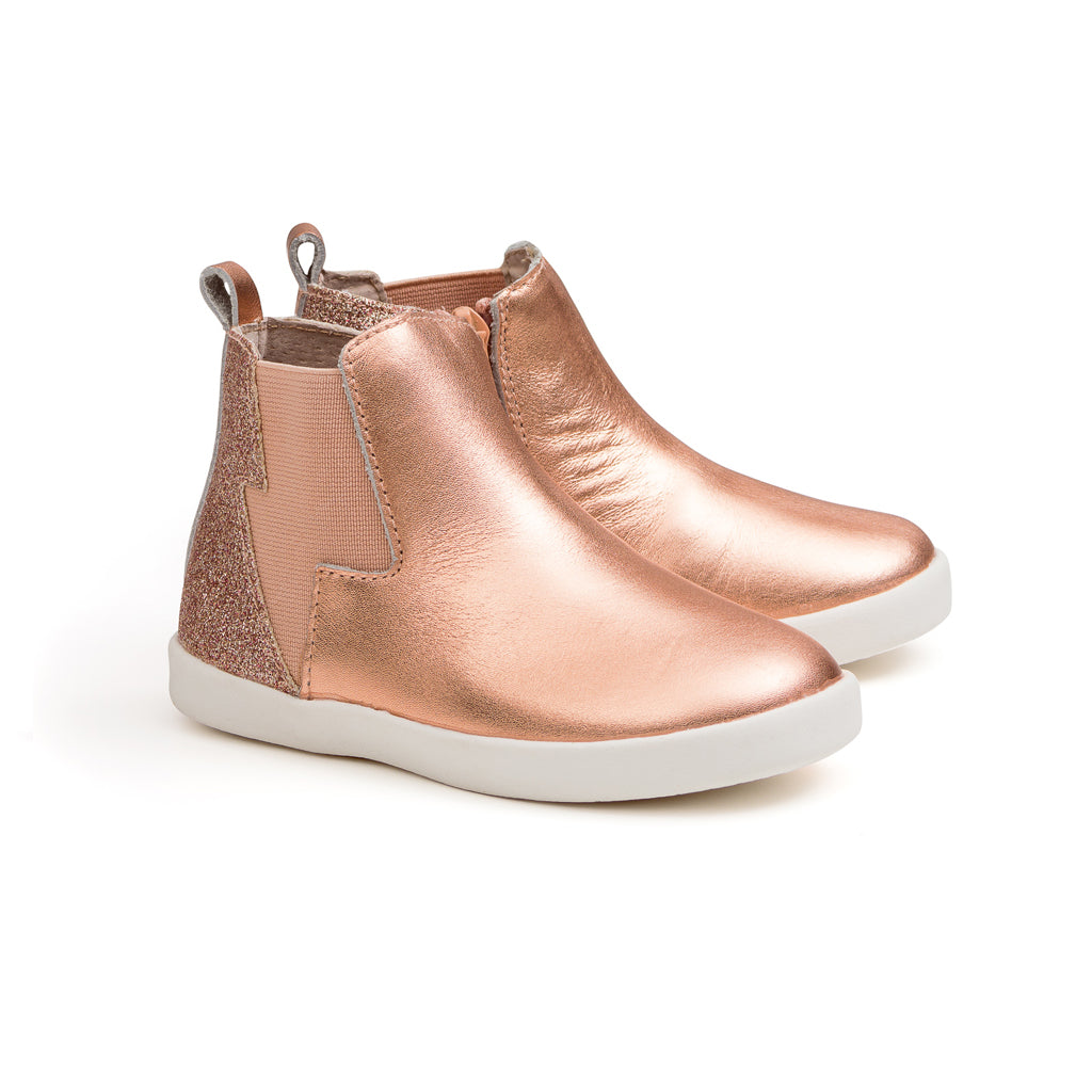 Pretty Brave - Electric Leather Boot - Rose Gold