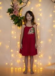 Bella and Lace - Noel Dress - Clause Embroidery