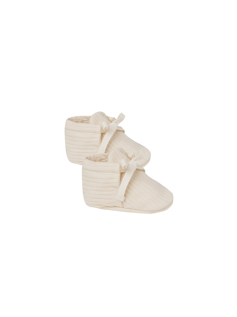 Quincy Mae - Ribbed Baby Booties - Natural