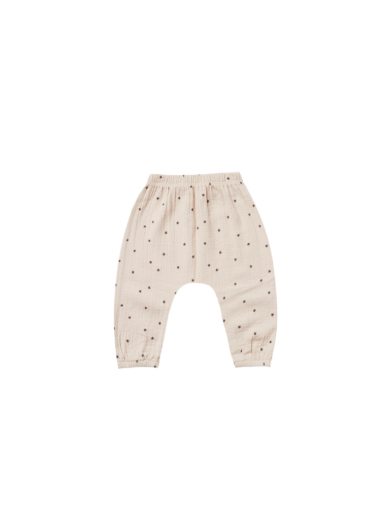 Quincy Mae - Woven Harem Pant - Natural Star