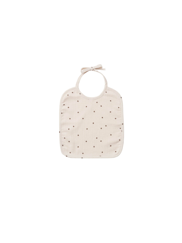 Quincy Mae - Woven Tie Bib - Natural Star
