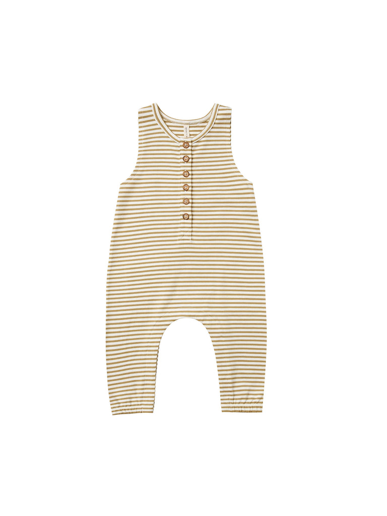 Quincy Mae - Sleeveless Jumpsuit - Gold Stripe