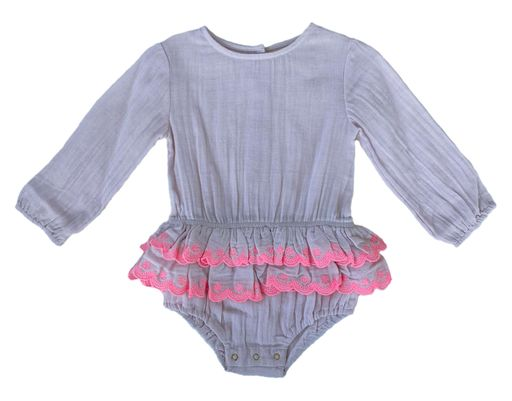Bella and Lace - Beatrice Romper - Pink Cloud