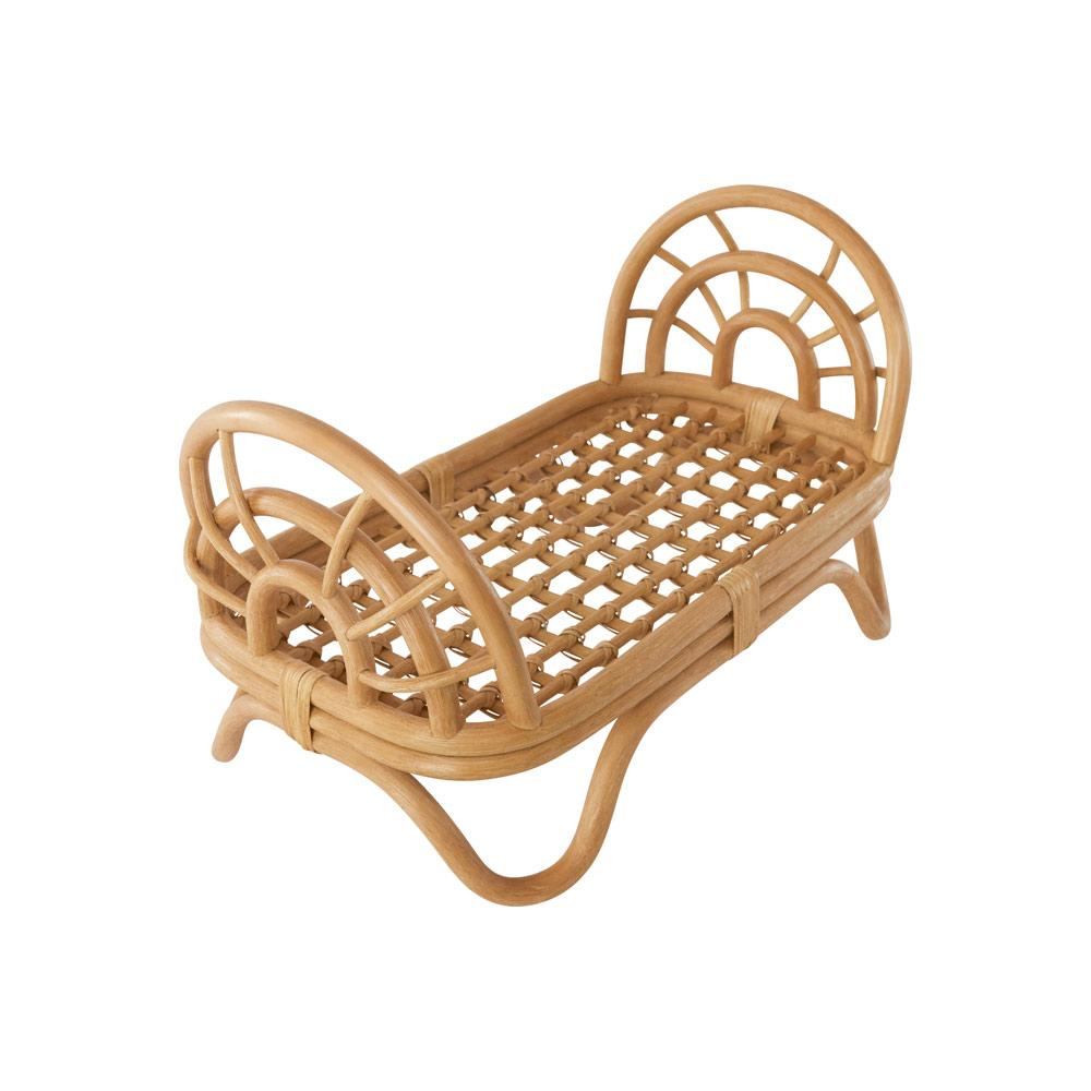 OYOY Mini - Rattan Doll's Bed