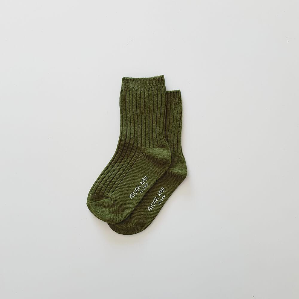 Precious April - Skyler Cotton Socks - Olive