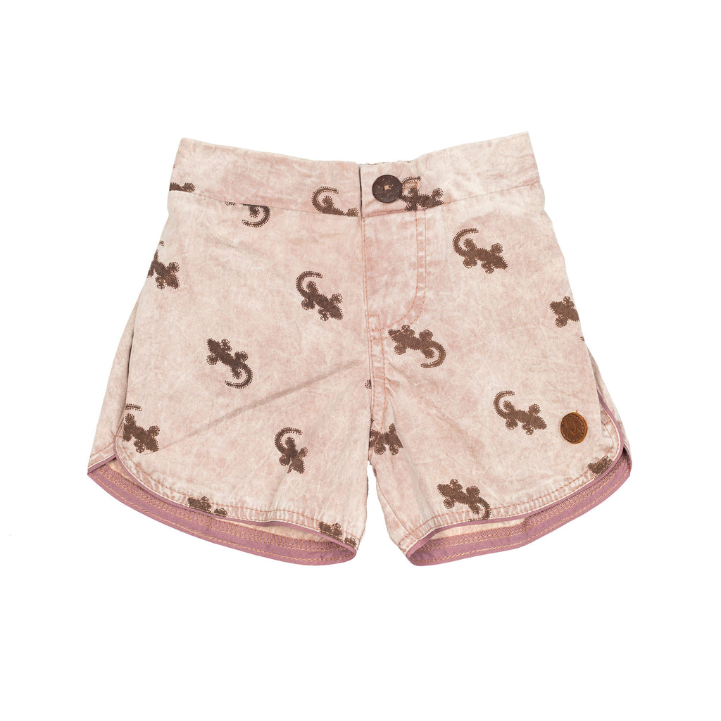 Children of the Tribe - Boys Shorts - Tawny Gecko