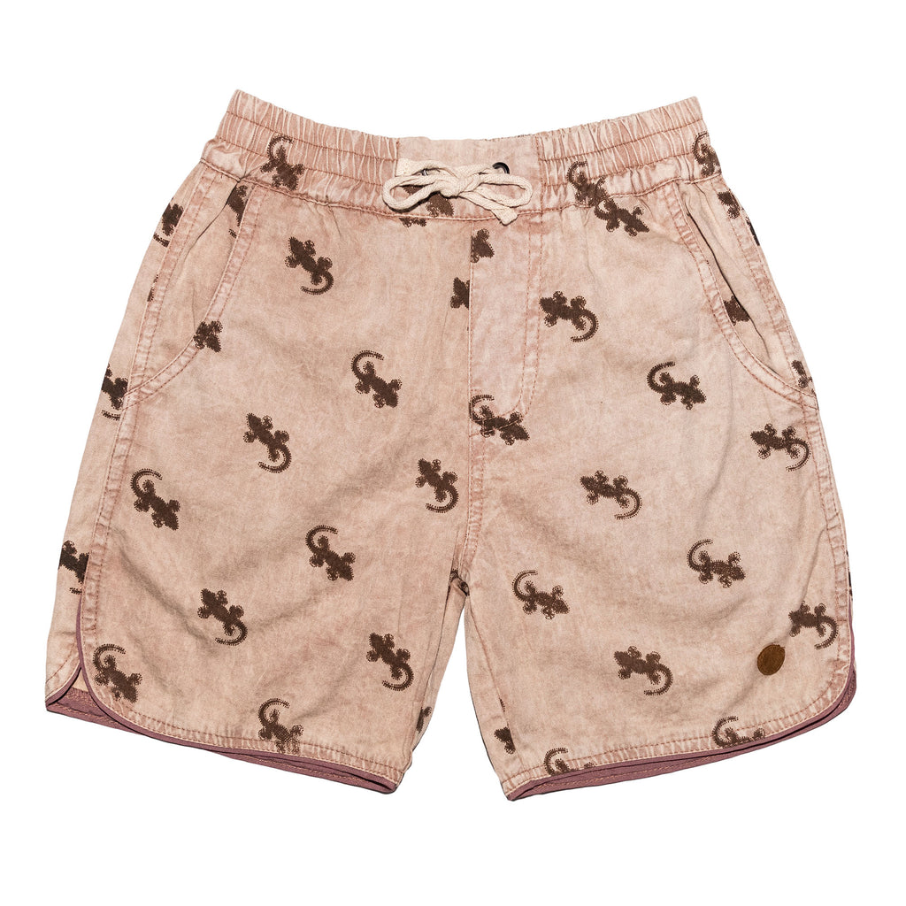 Children of the Tribe - Drawstring Short - Tawny Gecko