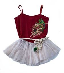 Bella and Lace - Nutcracker Dress - Clause Embroidery