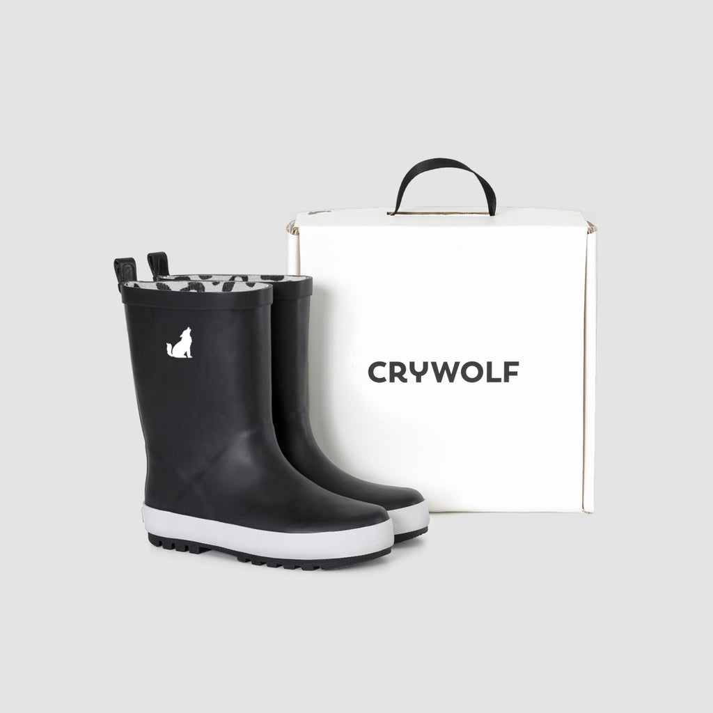 Cry Wolf Rain Boots - Black