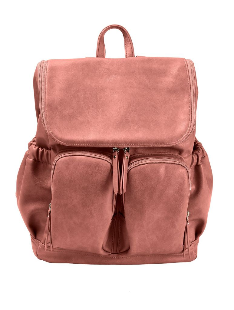 OiOi - Dusty Rose Faux Leather Backpack