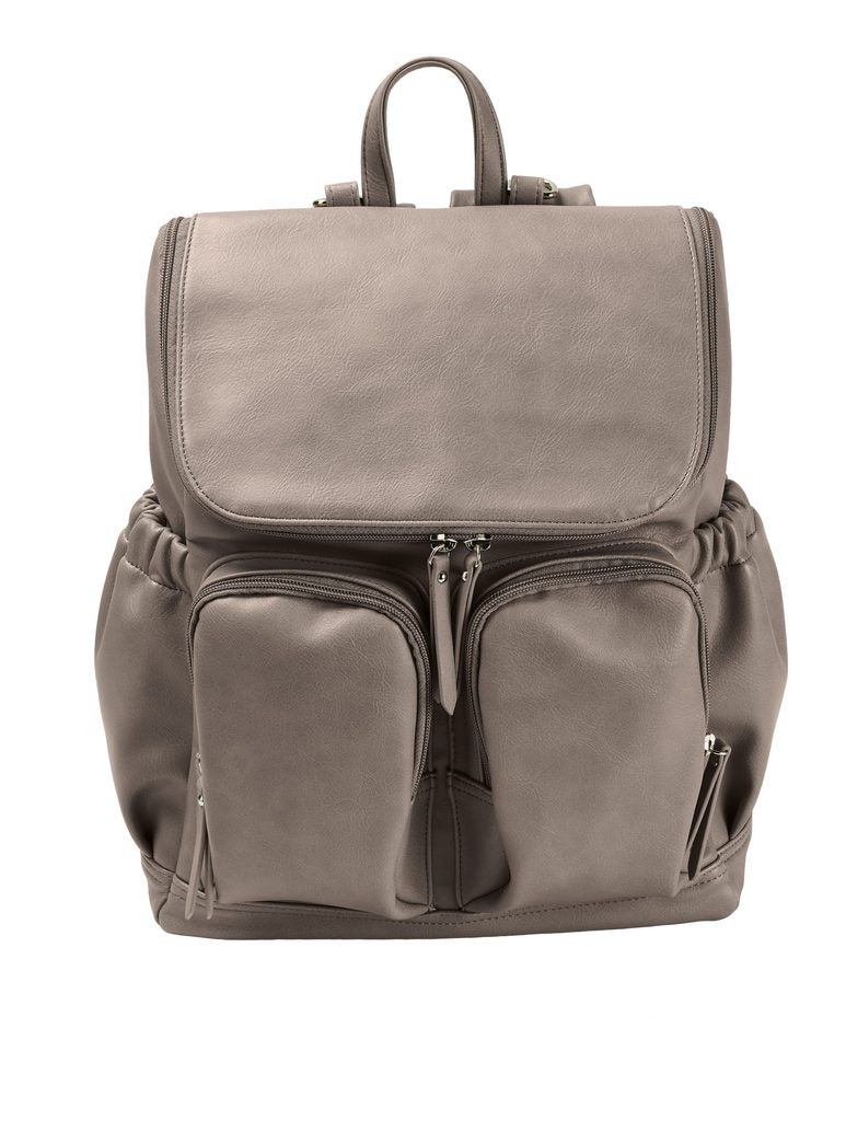 OiOi - Taupe Faux Leather Backpack