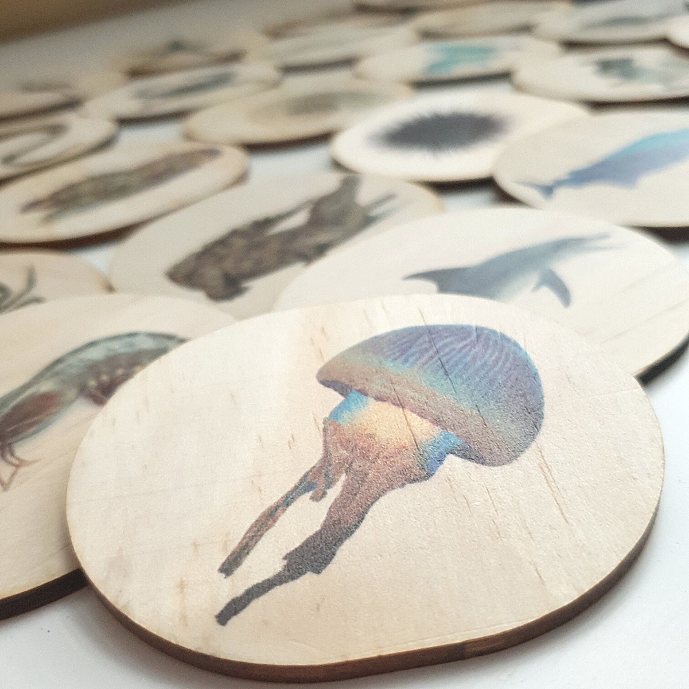 Wooden Sealife Magnets