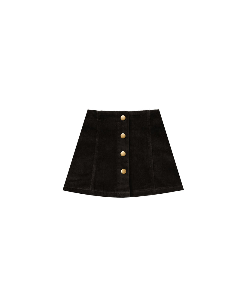 Rylee & Cru - Corduroy Mini Skirt - Vintage Black