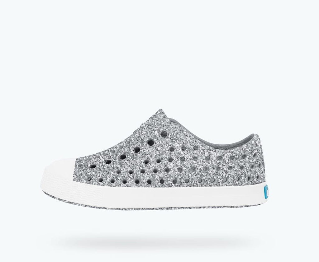 Native Shoes - Jefferson Child - Silver Bling/Shell White