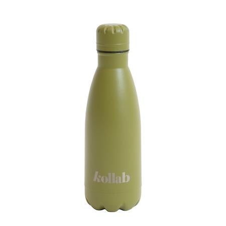 Kollab - Reusable 350ml Drink Bottle Flask - Powder Coated Khaki