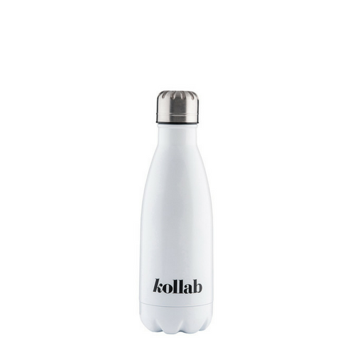 Kollab - Reusable 350ml Drink Bottle Flask - Shiny White