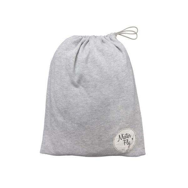Mister Fly - Grey Marle Jersey Cot Sheet