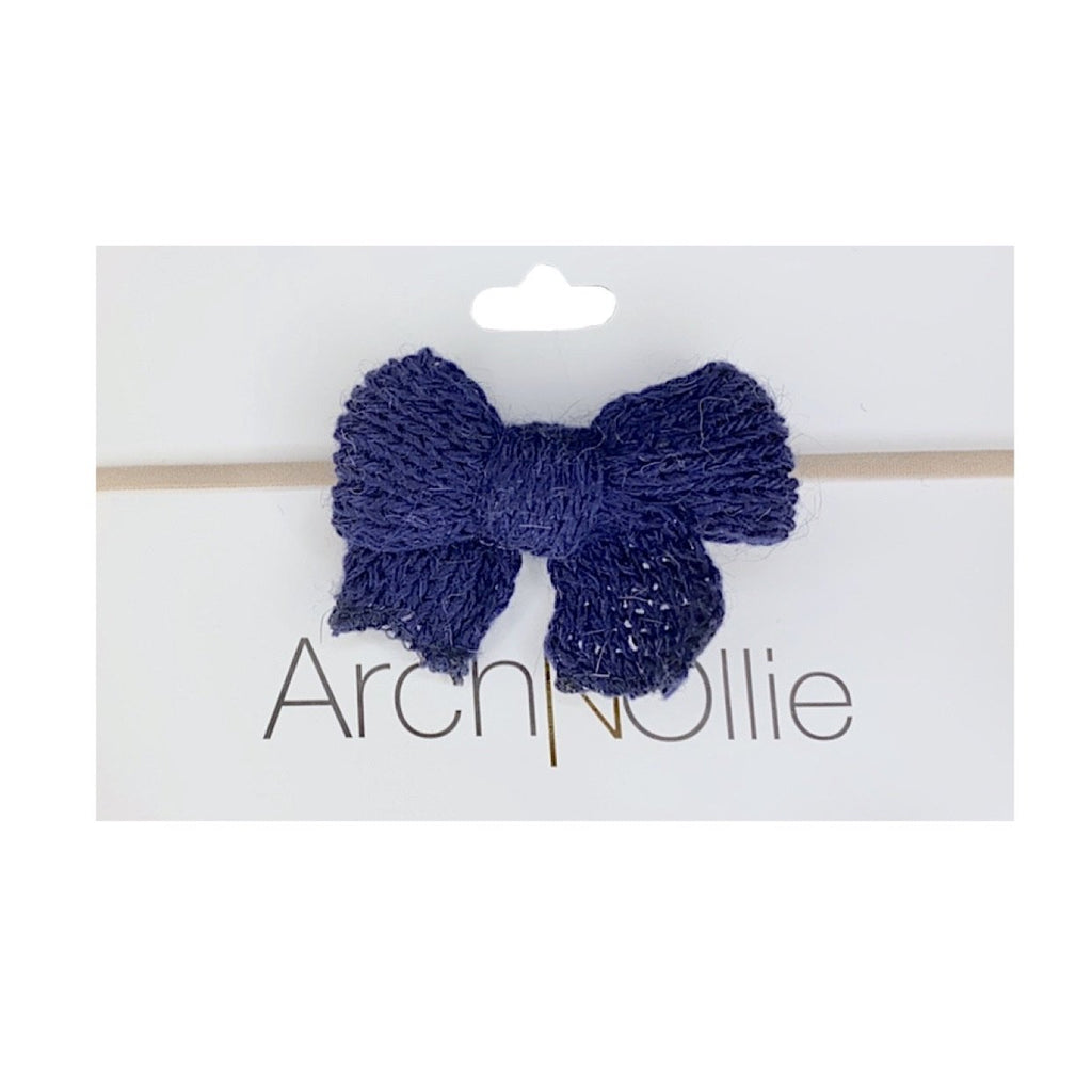 Arch N Ollie - Yarn Bow - Navy