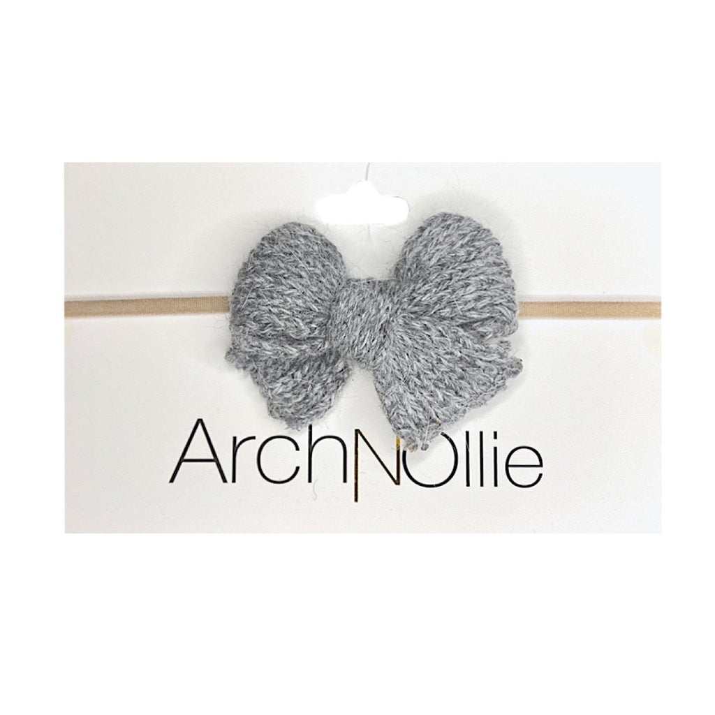 Arch N Ollie - Yarn Bow - Grey