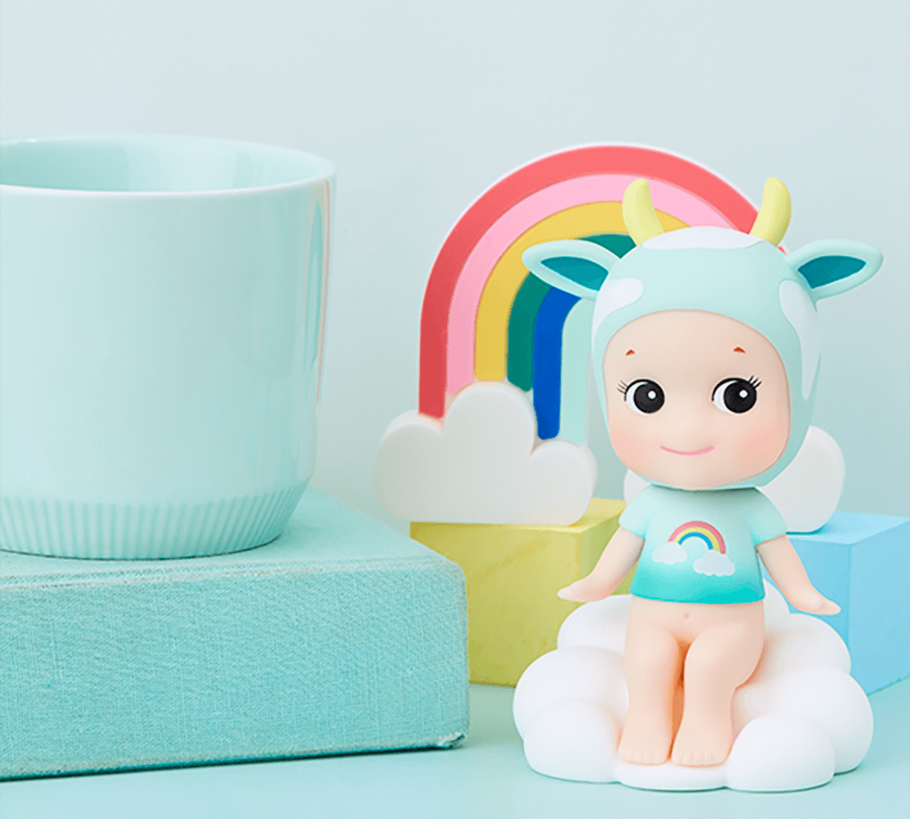 Sonny Angel- Bobble Head collection- Cloud Cow